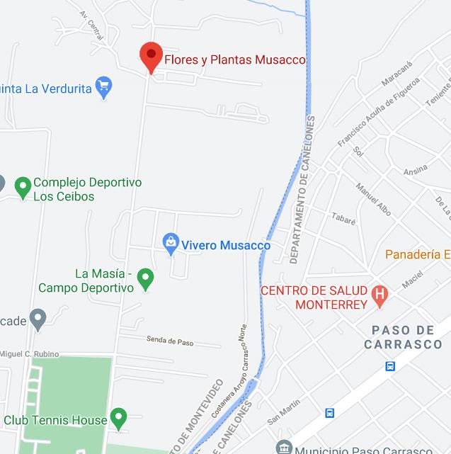 ubicación de Flores y Plantas Musacco